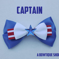 captain hair bow