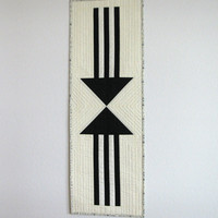Black and White Arrow Wall Hanging, Table Runner