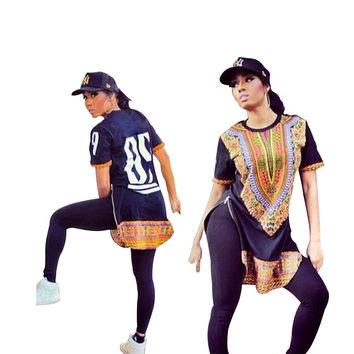 Zipped Sides African Vintage Dashiki Shirts