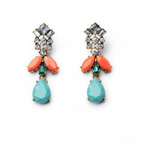 Turquoise Faceted Bead Earrings