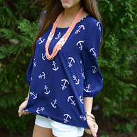 Anchors Away Top, Blue