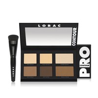 LORAC PRO Contour Palette & Exclusive Makeup Brush (Beige/Yellow)