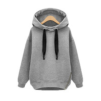 4 Colors Plus Size 2016 Winter Autumn Loose Hooded Jacket Thick Long Sleeve Sweatshirt Korean Style Warm Hoodies Blusas