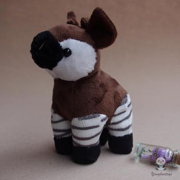 Okapi Zebra Giraffe Stuffed Animal Plush Toy 6""