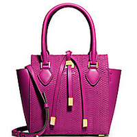Michael Kors - Miranda Small Sueded Snakeskin & Leather Tote - Saks Fifth Avenue Mobile