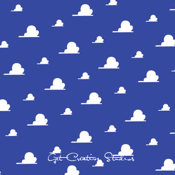 Toy Story Cloud Decal Fluffy Cloud Wall Decal Cloud Cartoon Animated Movie Buzz Lightyear Toy Story Decor Wall Art