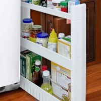 SLIM SLIDE-OUT STORAGE TOWER - IDEAL IN YOUR KITCHEN, BATH AND LAUNDRY ROOMS!