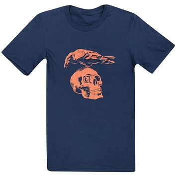 Edgar Allen Poe Skull and Raven (Navy) / Shirt