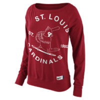 Nike Cooperstown Washed Epic Crew Fleece 1.4 (MLB Cardinals) Women's Top, size XL (Red)
