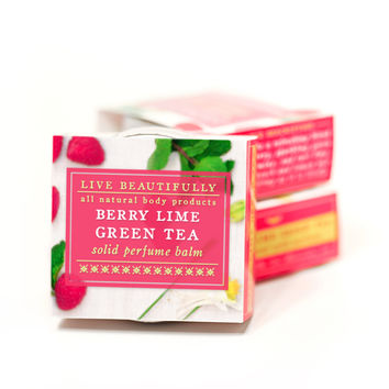 Berry Lime Green Tea - All Natural Solid Perfume