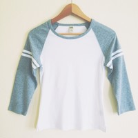 Basic Double Stripe Gray Raglan