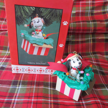 Vintage 101 Dalmatians 90s Merry Mischief Christmas Decorations Ornament