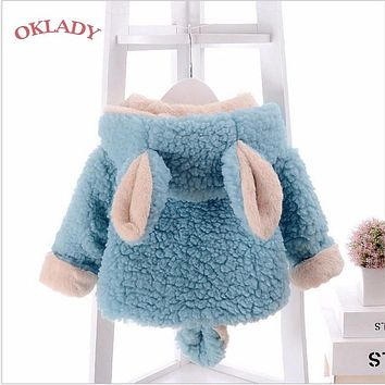 OKLADY Newborn Baby Winter Clothes Coat 6M Toddler Winter Girl Clothes Tops Fall Kid Parka Boy Infant Warm Cotton Hoodies 2T 3T