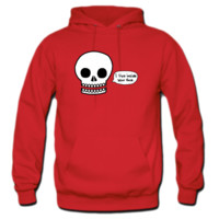 Skull I Live Inside Your Face Hoodie