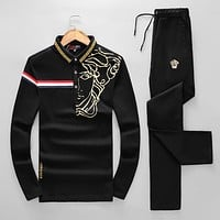 Boys & Men Versace Top Sweater Pullover Pants Trousers Set Two-Piece Sportswear