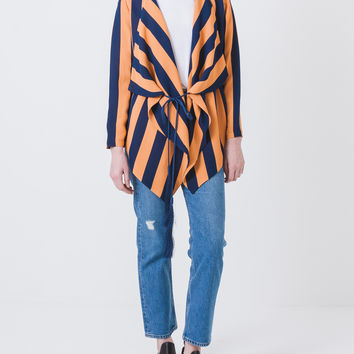 Bia Stripe Wrap Top