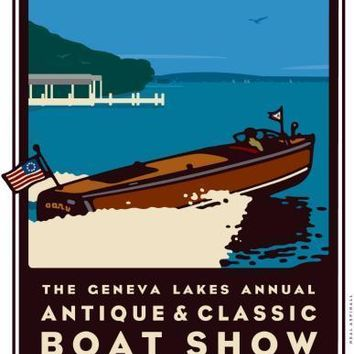 "Geneva Boat Show Poster Great Art 16""x24"""