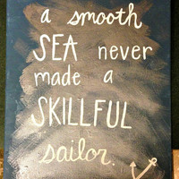 Sailor Anchor quote painting on canvas