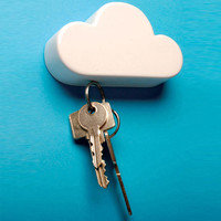 Cloud Key Holder Key Rack Magnetic Key Storage Hanging on Wall Home Wall Decoration 10 x 6 x 3cm