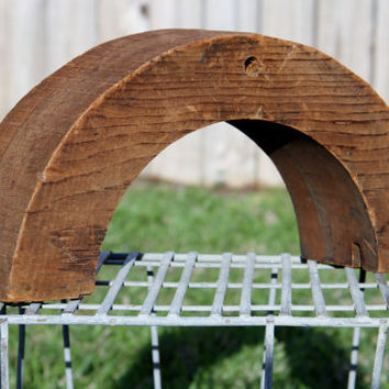 Antique Letter or Arch Solid Wood Millinery by restorationharbor