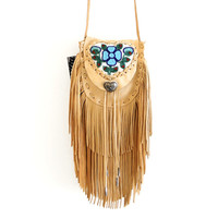 Athabaskan Beaded Double Fringe Cell Phone Wallet — Beyond Buckskin Boutique