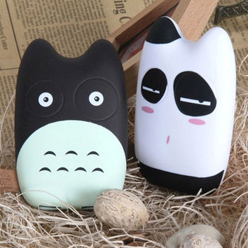 Fashional Cute Totoro Mobile Power Bank Real 8000mah External Battery Backup Charger for iphone 5 6 plus Note Galaxy
