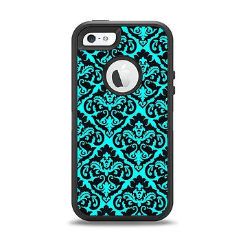 The Delicate Pattern Blank Apple iPhone 5-5s Otterbox Defender Case Skin Set