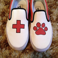 Ed Sheeran Slip On Vans  - Painted