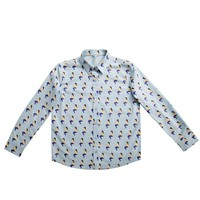 Blue Mermaid Botton-Down Shirt
