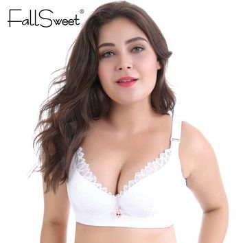 94e43a6e14 FallSweet Plus Size Bras D DD cup Push Up Lace Brassiere for Wom. Gender  Women  Item ...