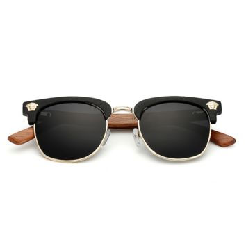 Black Wood Versace Women Fashion Sunglasses