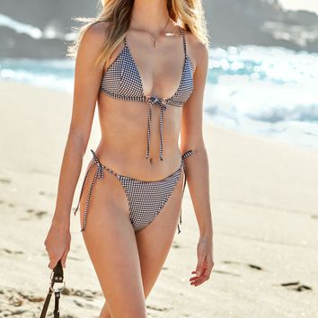 LA Hearts Tie Front Triangle Bikini Top at PacSun.com