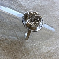 Silver Rose RIng Silversmith Ring Gem Bliss