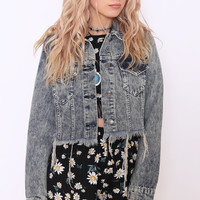 JESSY RIPPED DENIM JACKET by Dolly Rocka