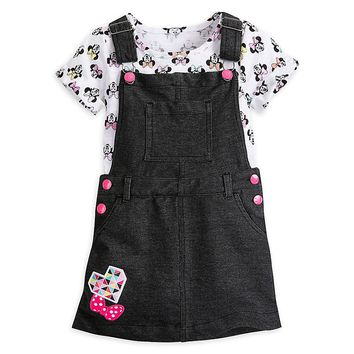 Original Disney Store Minnie Mouse Jumper & Top Set for Girls Black 9/10