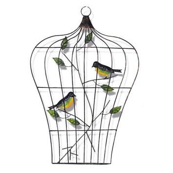 Modern Iron Bird Cage Wall Hanging Decoration   B
