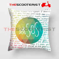 "Colorful 5SOS Quote Design - Pillow Cover 18"" x 18"" - One Side"