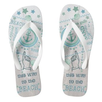 Nautical Anchor Beach Summer Flip Flops