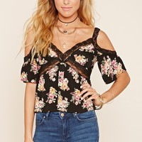 Floral Print Open-Shoulder Cami