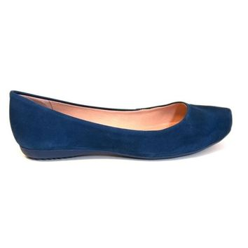 Chelsea Crew Georgina - Blue Pointed Toe Ballet Flat