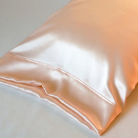 100% PURE Silk Pillowcase, Pink Charmeuse, Standard or King Size, French Seamed, Hypoallergenic, for Sensitive Skin, and Hair Care