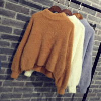 Hedging sweater half high neck sweater