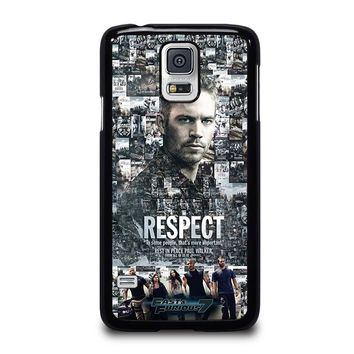 FAST FURIOUS 7 PAUL WALKER Samsung Galaxy S5 Case Cover