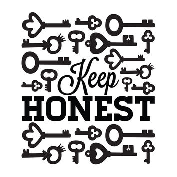 Keep Honest - Office Quote Wall Decals