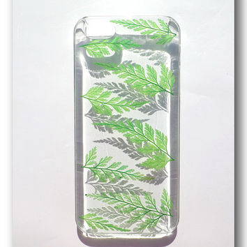 Handmade iPhone 5/5s case, Resin with Nature, Fern ( 14 )