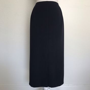 TALBOTS Women's Petites Plus Size 22W Navy Blue Career Lined Pencil Skirt