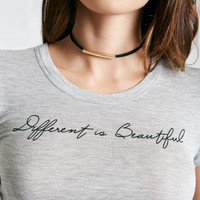 Different Is Beautiful Graphic Baby Tee | Wet Seal