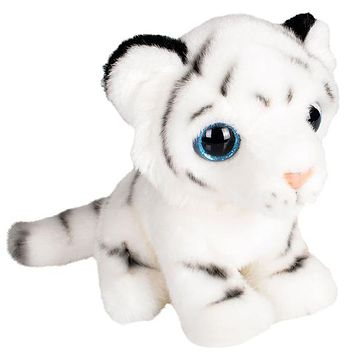 "7"" Stuffed White Tiger Plush Sitting Animal Kingdom Collection"