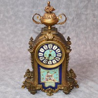 Canonbury - Antique French Mantle Clock Japanese Decoration Sevres Porcelain Time