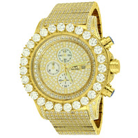 Iced Out Gold Tone Mens Stainless Steel Watch Joe Rodeo Master Of Bling BR-02